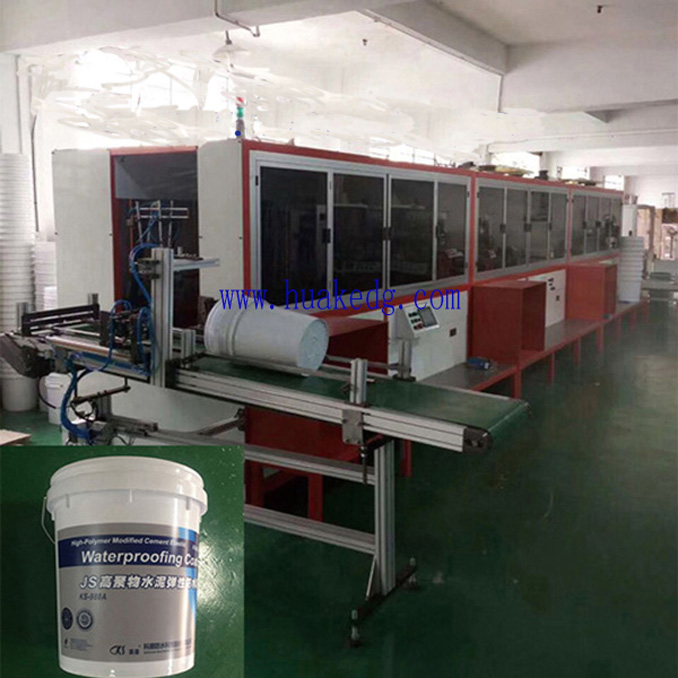 3 Colors Automatic Screen Printing Machine on Buckets